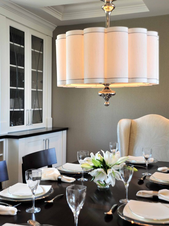 Scalloped Shade Pendant Contemporary Dining Room Enviable Designs