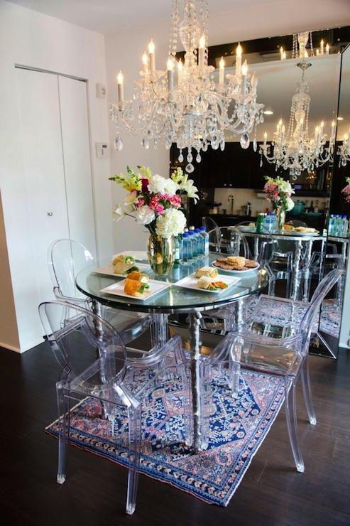 Beveled Floor Mirror Eclectic Dining Room Refinery 29