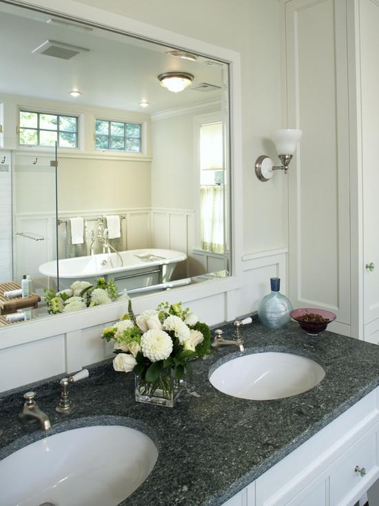 Ubatuba Granite - Cottage - bathroom - LDa Architects on Bathroom Ideas With Black Granite Countertops  id=78078