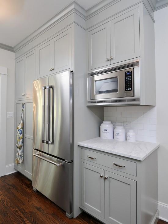 Gray Green Kitchen Cabinets Contemporary Kitchen