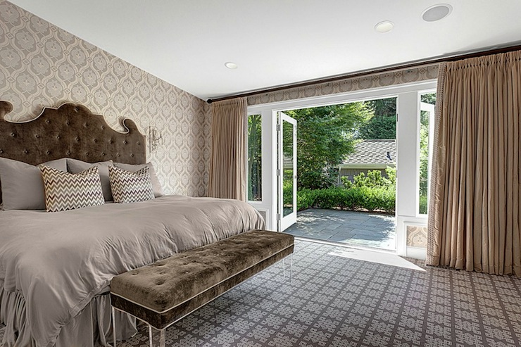 Lucite Bench Transitional Bedroom House Crush