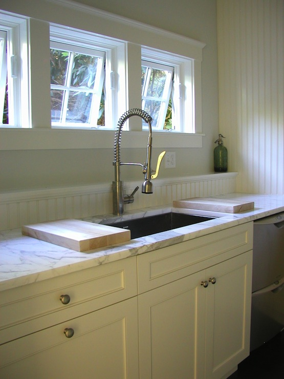 Beadboard Backsplash Cottage Kitchen HSH Interiors