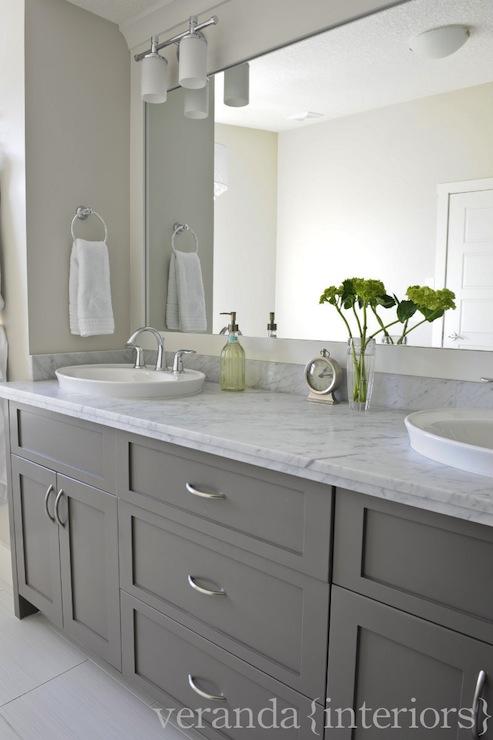 Gray Bathroom Vanities Contemporary Bathroom Veranda Interiors