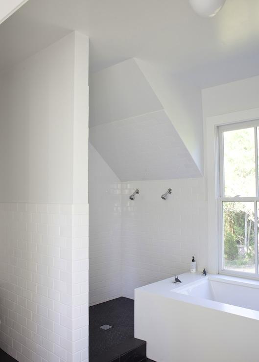 Attic Shower Design Modern Bathroom Heather A Wilson Architect
