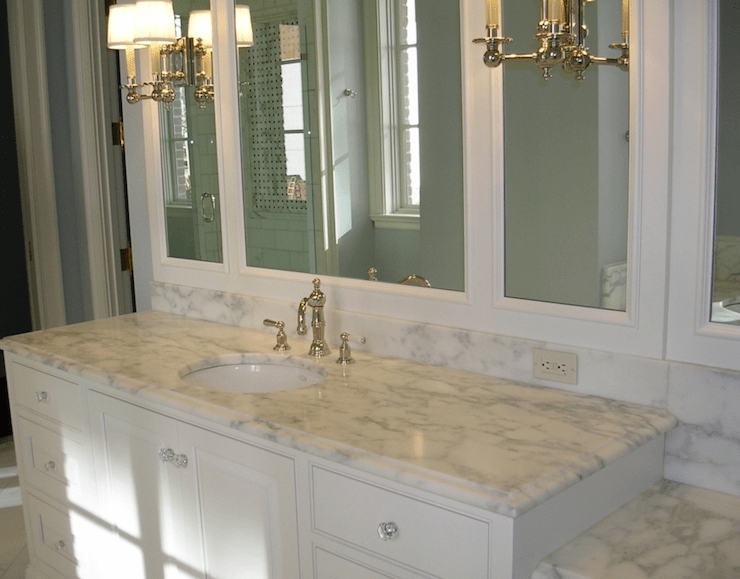 beveled marble countertops - traditional - bathroom - precision
