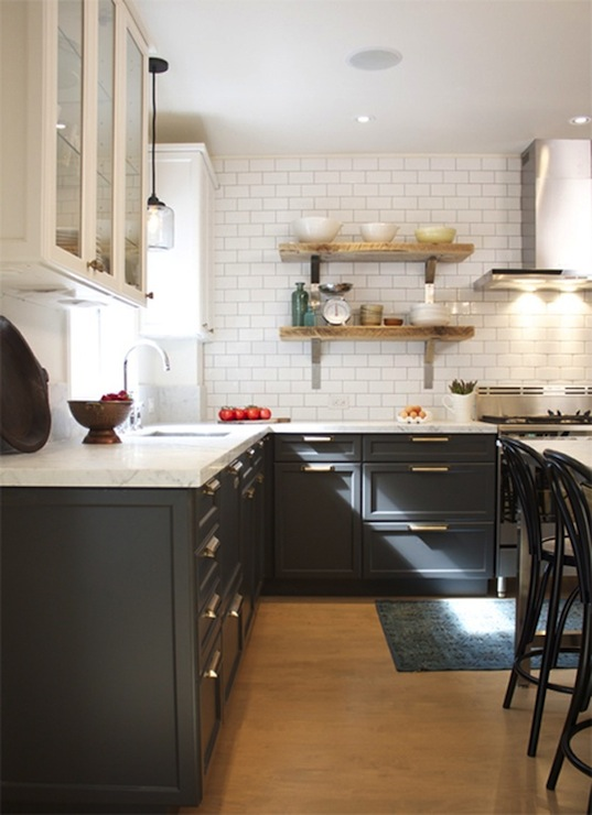 Charcoal Gray Cabinets Vintage Kitchen House Amp Home