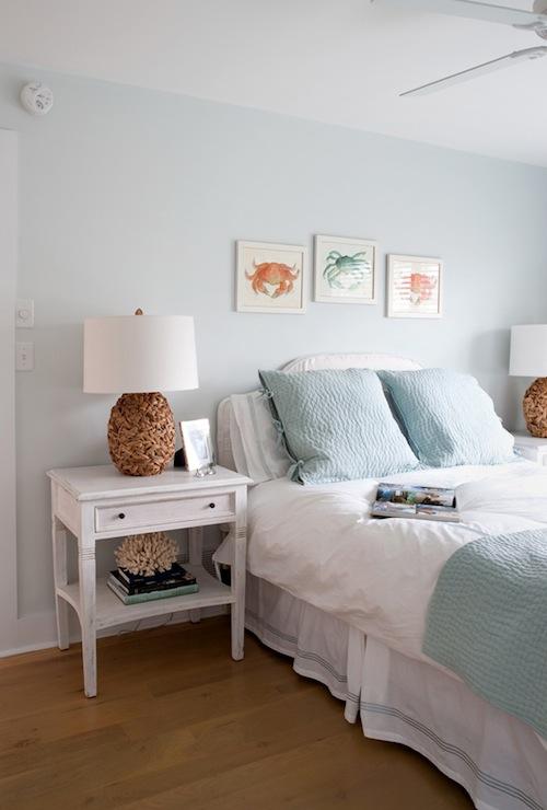 Blue Walls Bedroom Cottage Bedroom Benjamin Moore