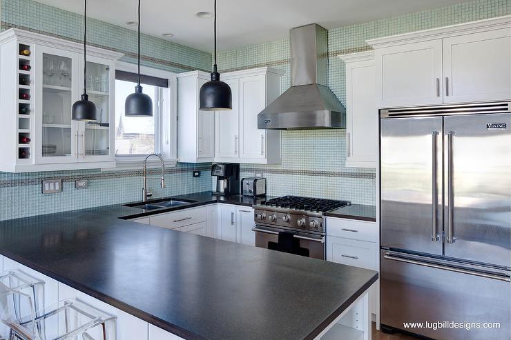Honed Black Granite Countertops - Contemporary - kitchen ... on Black Granite Countertops Kitchen  id=75326