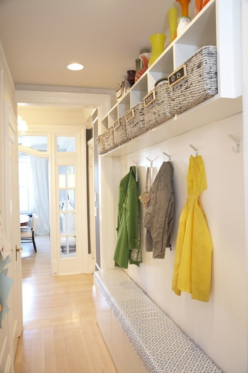 Long Mudroom Design Contemporary Laundry Room