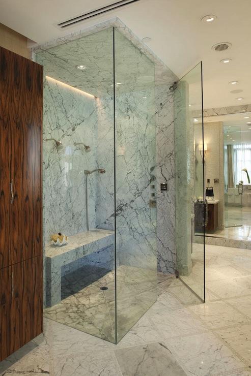 Floor To Ceiling Frameless Glass Shower Design Ideas