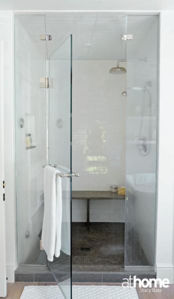 Seamless Glass Shower Contemporary Bathroom At Home