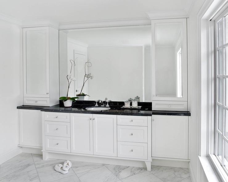 Black Marble Countertops - Contemporary - bathroom - Caden ... on Bathroom Ideas With Black Granite Countertops  id=68468