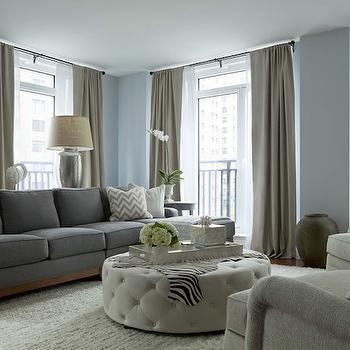 Zebra Ottoman Contemporary Living Room Sherwin Williams Versatile Gray HGTV