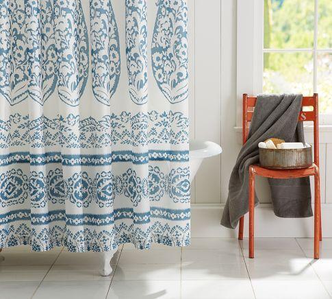 Lori Paisley Shower Curtain Pottery Barn