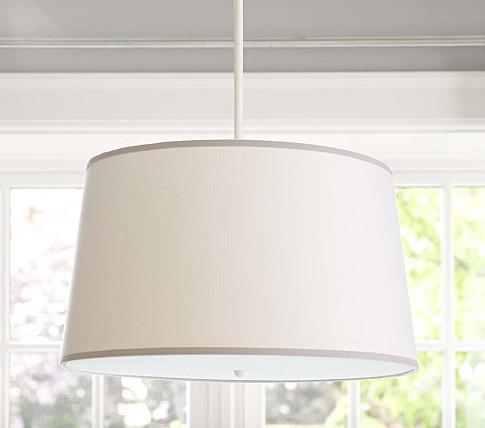 white gray drum flush mount light