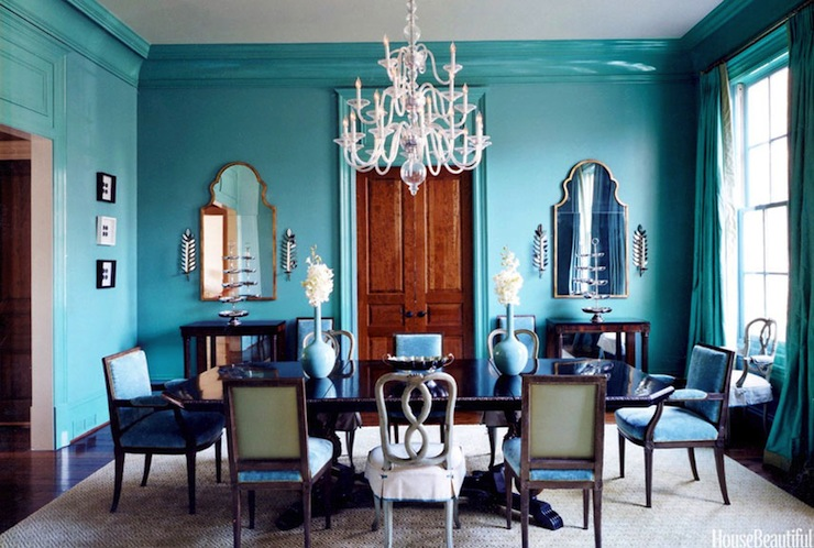 Turquoise Dining Room - Eclectic - dining room - Glidden ...