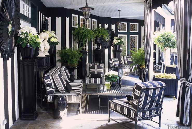 Black and White Patio - Contemporary - deck/patio - Ralph ... on Black And White Backyard Decor  id=43922