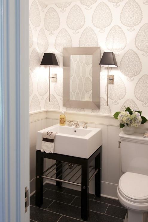 Black and White Washstand, Contemporary, bathroom ...