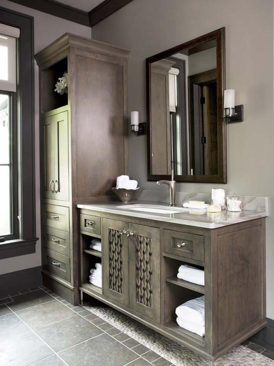 Dark Maple Cabinets - Transitional - bathroom - Linda ... on Dark Maple Cabinets  id=15878