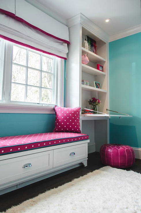 Pink And Turquoise Girls Room Transitional Girls