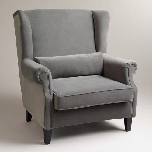 Dream Home Light Gray Oversize Armchair for Living Room