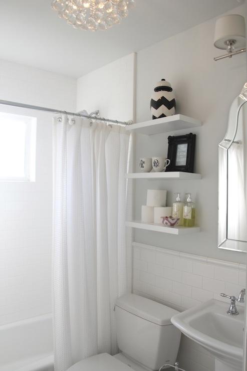 Shelves Above Toilet Transitional Bathroom Benjamin Moore Horizon 346 Living