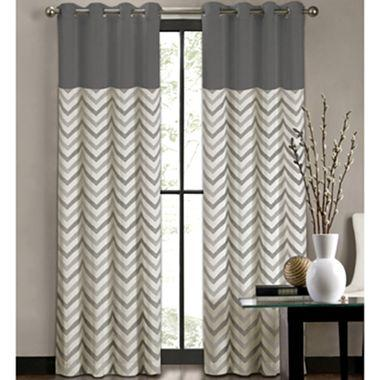 Colordrift Tribal Stripe Grommet Top Curtain Panel I Jcpenney