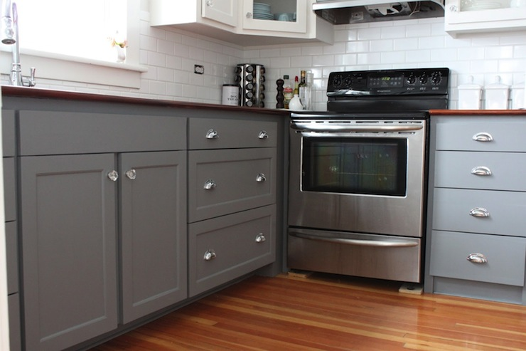 gray kitchen cabinet paint colors transitional kitchen on benjamin moore kitchen cabinet paint id=94426