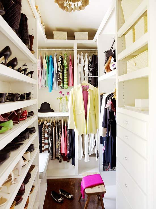 Closet Built Ins Contemporary Closet BHG