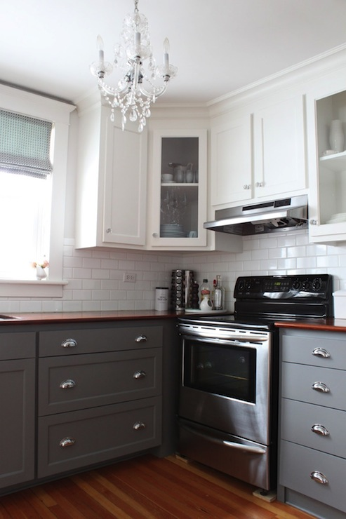 Gray KItchen Cabinets Transitional Kitchen Benjamin Moore Whale Gray Modern Jane
