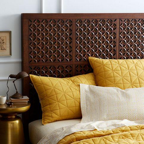 Carved Headboard   Cafe   west elm