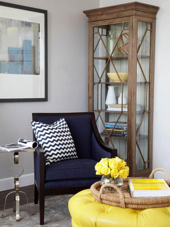 Blue And Gray Living Room Contemporary Morgan