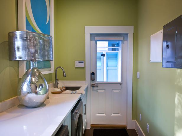 Long And Narrow Laundry Room Contemporary Laundry Room Sherwin Williams Hearts Of Palm HGTV