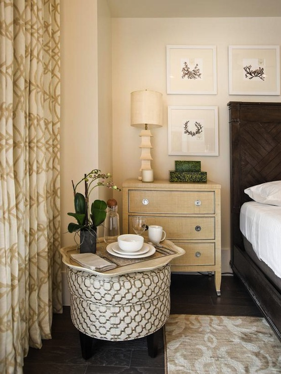 Trellis Curtains Cottage Bedroom Sherwin Williams Crisp Linen HGTV