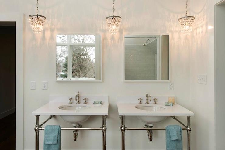 Crystal Drops Chandelier Cottage Bathroom Pinney Designs