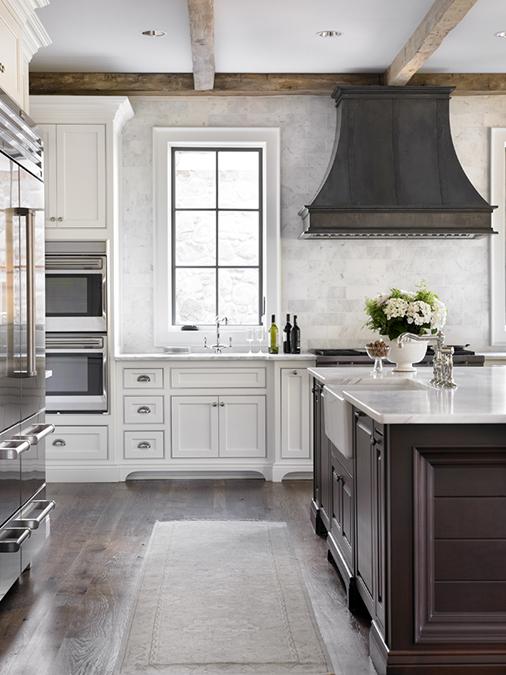 Zinc Kitchen Hood Transitional Kitchen L Kae Interiors