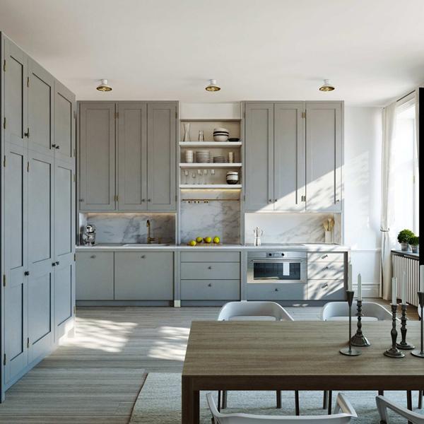 Gray Kitchen Cabinets Contemporary Kitchen ESNY