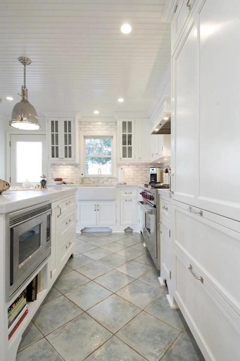 Beadboard Kitchen Ceiling Transitional Kitchen