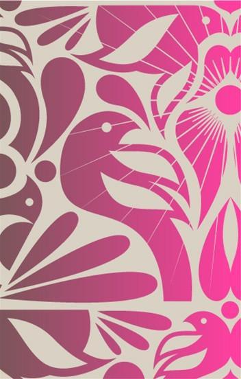 Birds Wallpaper In Vintage Plum And Pink Design By Kreme