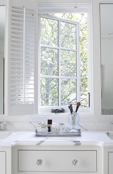 Built In Vanity Traditional Bathroom Revival