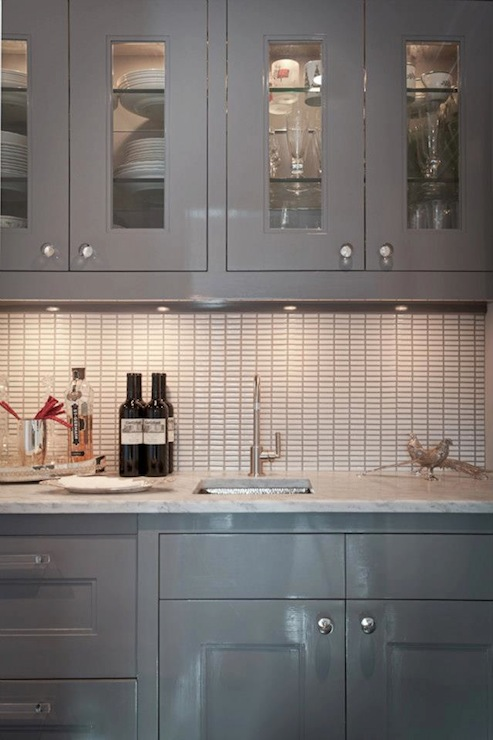 High Gloss Kitchen Cabinets In Contemporary