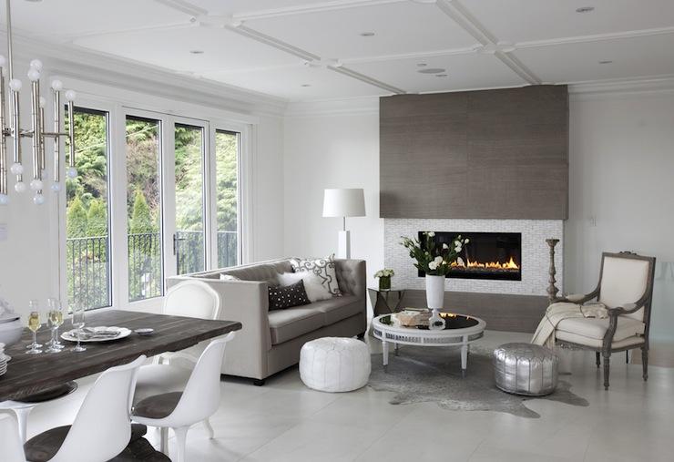 Gray Living Room Contemporary Living Room The Cross