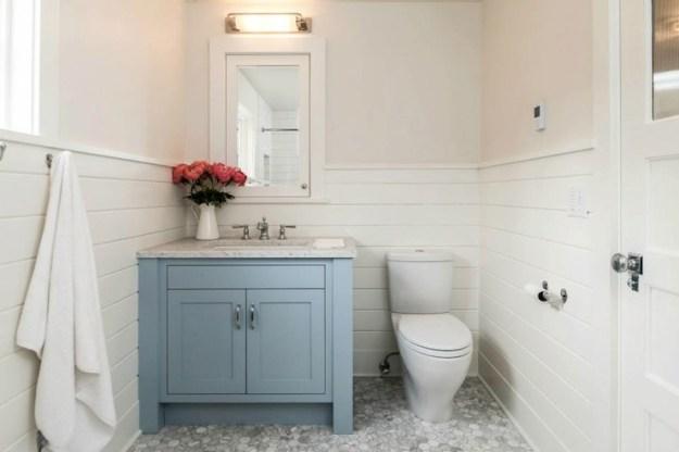 blue bathroom vanity - transitional - bathroom - jas design build