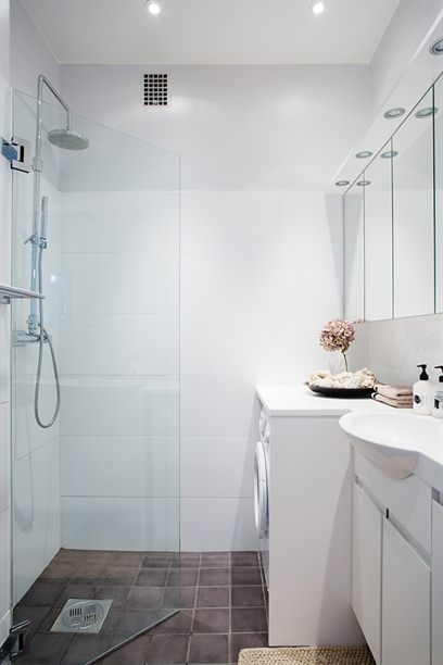 Washing Machine in Bathroom - Contemporary - bathroom ... on Small Space Small Bathroom Ideas With Washing Machine id=22410