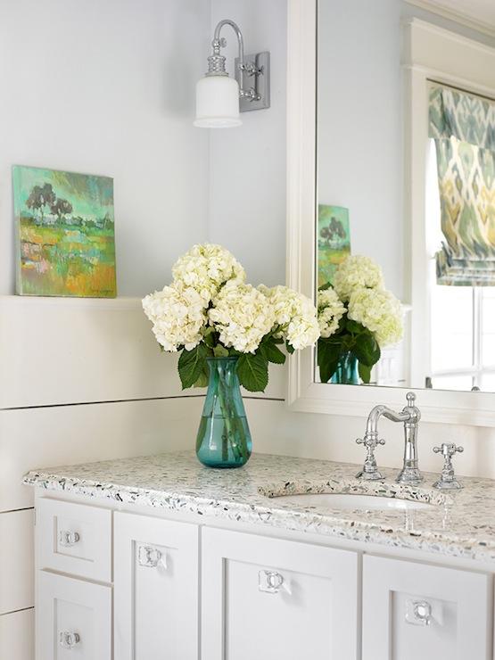 Crystal Knobs Transitional Bathroom Tillman Long