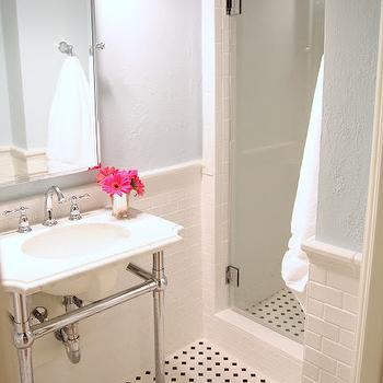 octagon and dot bathroom floor tile
