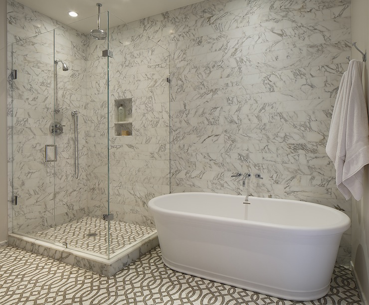 Trellis Tiles Contemporary Bathroom Artistic Designs