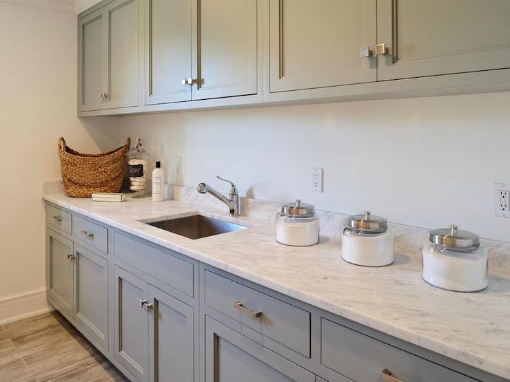 Gray Laundry Room Cabinets Design Ideas