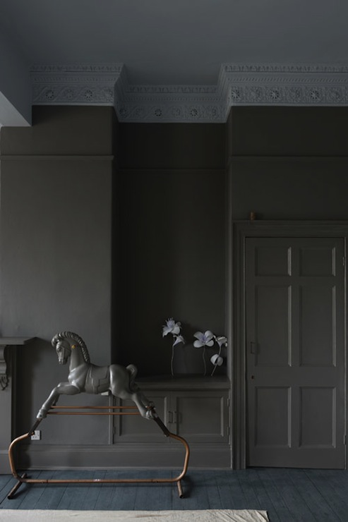 Gray Paint Colors Eclectic Living Room Farrow And