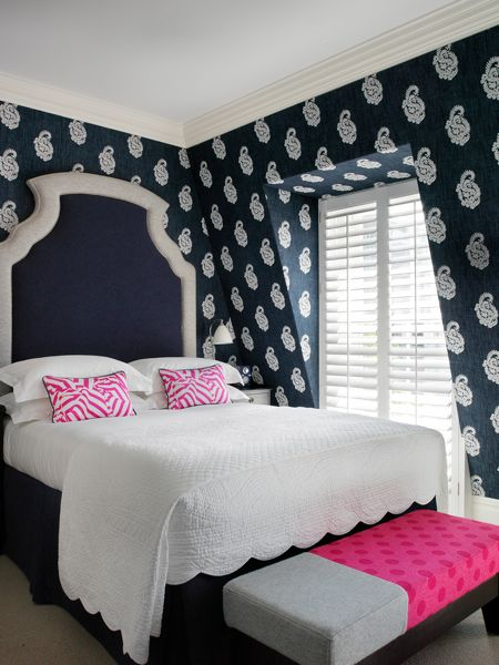 Pink And Navy Blue Bedroom Contemporary Bedroom Dorset Square Hotel